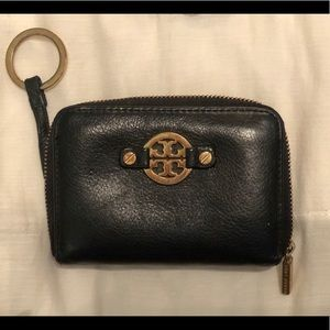 Tory Burch Amanda Zip Coin Purse Black